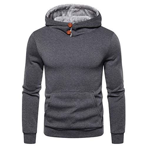 Quistal Sweat-Shirt à Capuche Homme Manches Longues Hiver Slim Fit Sweat Shirt Pull Casual Veste de Sweater Vêtements de Sport pour Couples avec Grosse Poche Hoodies