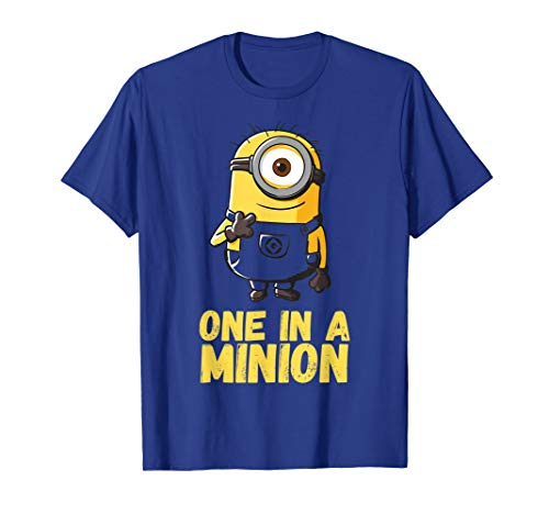 Despicable Me One In A Minion Yellow Minion Drawing T-Shirt (A In Minion Shirt One)