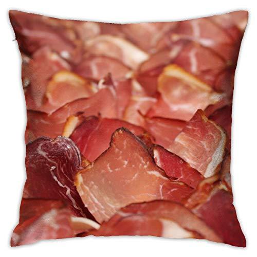 YudoHong Schwarzwälder Schinken Schinken Kaltbuffet Standard Baumwolle Kissenbezug Kissenbezug -