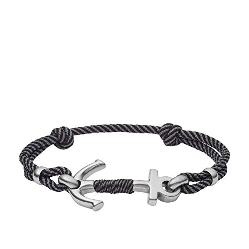 Fossil JF03327040 Herren Armband Anker Halt Halt Silber Grau 25 cm