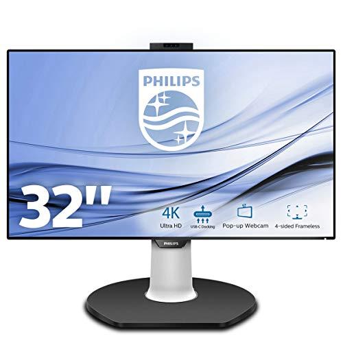 Philips Brilliance - Monitor (80 cm (31.5'), 3840 x 2160 Pixeles, 4K Ultra HD, LED, 5 ms, Negro, Blanco)