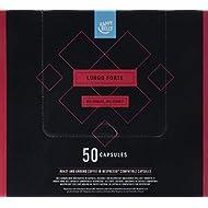 Amazon Brand- Happy Belly Lungo Forte Roast & Ground UTZ Coffee in Nespresso compatible compostable capsules, 50 capsules