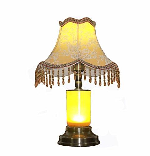 ANDEa Led Bedroom Éclairage de chevet, rétro style européen Décoration Lampe de table Étude à domicile Salle de séjour Lampe de table Chambres d'hôtel Cylindre Lampe de table E27 Buse à vis Bouton d'alimentation 45.5 * 33cm Originalité ( taille : 45.5*33cm )