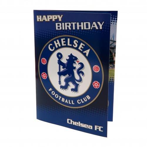 Chelsea F.C. Geburtstagskarte mit Musik, Motiv Karten Geburtstag Karten: ca. 22,5 x 15,5 x 15,5 cm, mit Nachricht '... make it blue day! '- Offizielles Fußball-Merchandising-Produkt (Nachricht Produkte)