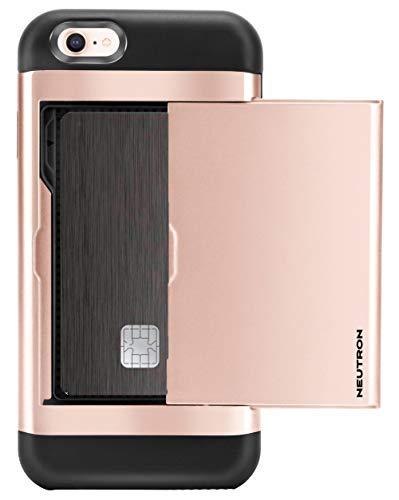 Neutron iPhone 6/6S stoßfest Fall mit Halterung–Schutztasche Kreditkarte Brieftasche Slot - 6 Iphone Blau Otterbox-fälle