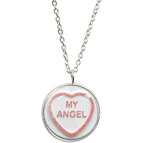 Retro Sweet My Angel-Ciondolo e collana placcati