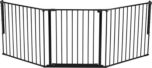 Baby Dan 56226-2600-10-85 - Barriera di protezione per lettino Flex M, 82 - 223 cm, colore: Nero