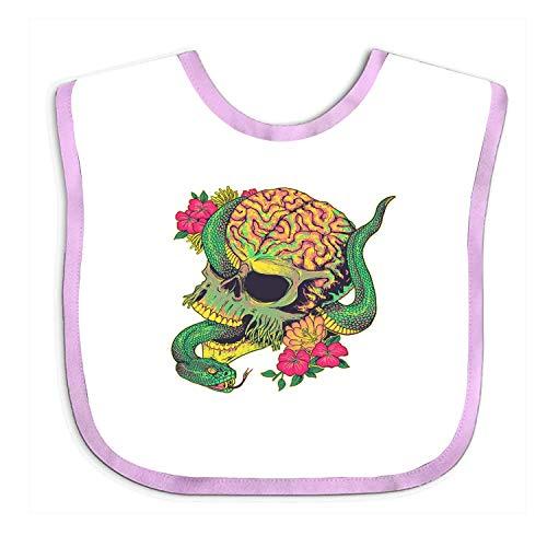 Qinckon Super Absorbent Bandana Drool Bibs - Serpent Skull Baby Teething Bibs for Infant, Toddler Baby Infant Toddler Bib