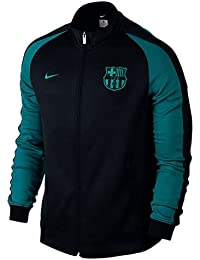 Nike Fcb Auth N98 - Chaqueta Línea F.C. Barcelona para hombre, color negro, talla XL