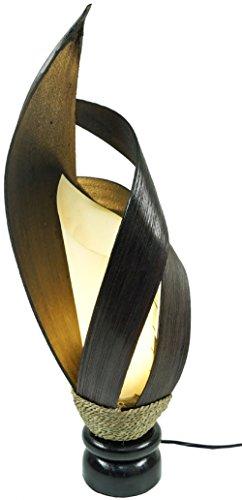 Deko-Leuchte LOTUS KARIMA, Tisch-Lampe aus Natur-Materialien, Stimmungsleuchte, Höhe ca. 55 cm (Höhe-tisch-lampe)