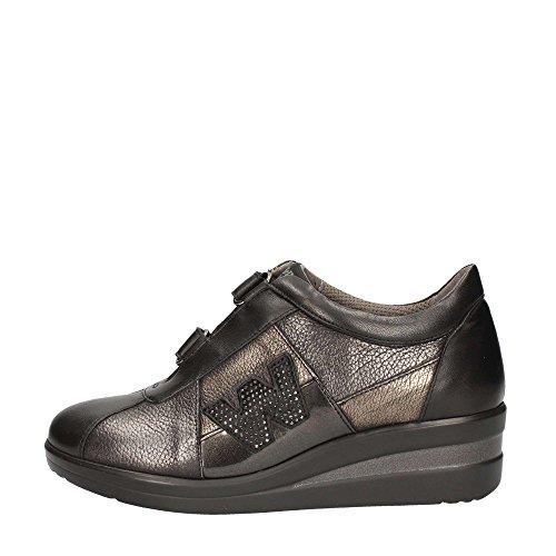 Melluso R0804 Sneakers Donna Nappa Nero Nero 38