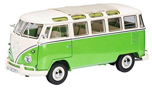 """Schuco 450028600 VW T1b Samba 1:18\"""" Fahrzeug, Grün/Beige"""
