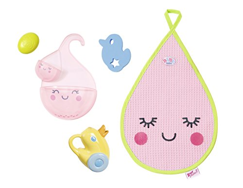 Zapf Baby Born Bathing Accessory Set Doll Bathing Set - Accesorios para muñecas (Doll Bathing Set, 3 año(s), Multicolor, 43 cm, Chica, 43 cm)