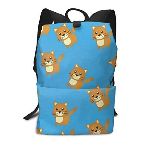 Niedliche Katze Rucksack Mitte für Kinder Jugendliche Schule Reisetasche -