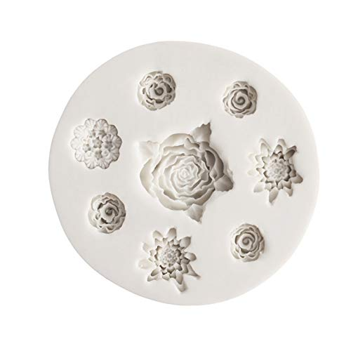 Daisies Mould Silicone Mold Chocolate Baking Tools Non-Stick Silicone Cake Mold Jelly and Candy Mold ()