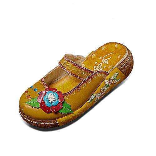 Socofy Zapatos Cuero Mujer Mocasines Mujer Sandalias