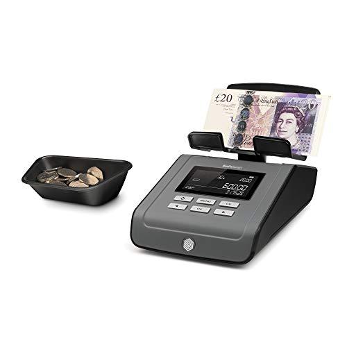 """zählt Münzen, Geldscheine, Münzrollen, Geldscheinbündel,adaptiver Zähl-Algorithmus, 13 Währungen vorinstalliert: EUR/CHF/USD/GBP/PLN/HUF/SEK/NOK/DKK/BGN/CZK/RON/AUD, inkl. Geld-Plattform, Münzschale, Netzteil & USB-Kabel (131-0573)Geldzählwaage """"..."""