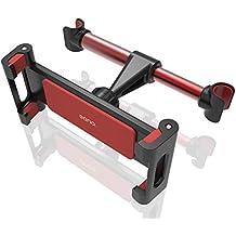 """Eono Essentials Supporto Auto Poggiatesta per Tablet, Supporto Tablet : Universale Supporto per 5~13"""" Tablet Come Pad 2018 Pro 9.7, 10.5, Pad Air Mini 2 3 4, Phone, Samsung Tab, Altri Tablets - Rosso"""