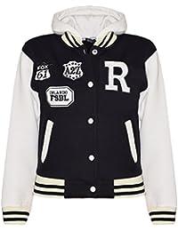 A2Z 4 Kids® Kids Girls Boys R Fashion NYC Fox Baseball Hooded Jacket Varsity Hoodie Age 2-13 Years
