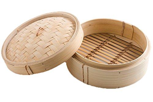 Ganze Bambus Dampfer Reine Handgefertigte Si-lun Dampfer 23cm Bambus Dampfer Eine Schublade Abdeckung Ein Chinesischen Merkmale Dampfer,Beige-23cm