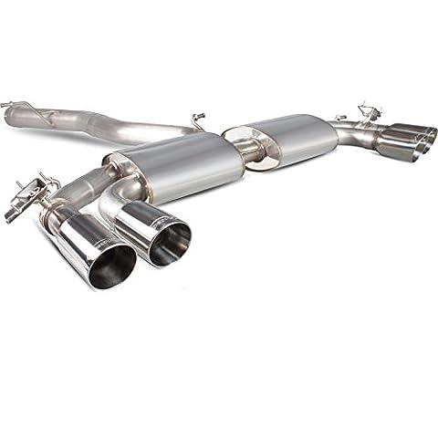 SAUS049D - Scorpion Car Exhaust Cat-Back System (Non-Resonated) (Valved) Quad Daytona - Audi S3 2.0T 8V 3 Door & Sportback 2013 - 2016