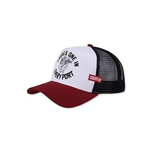 COASTAL - Every Port (offwhite/wine/black) - High Fitted Trucker Cap