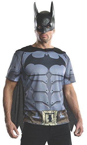 Rubie's Batman Shirt mit Cape und Maske für Herren Gr. M u. L, Größe:S