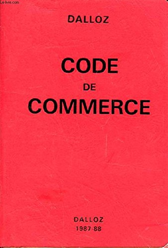 CODE DE COMMERCE par COLLECTIF