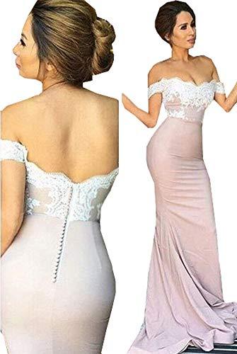 Special Bridal Spitze-Brautjunfer-Kleid weg vom Schulter-Abend-Kleid-Nixe-Abschlussball-Kleid Style7...