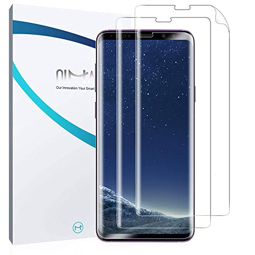 QiMai 3X Full Screen Cover Schutzfolie für Galaxy S8 Nano-TPU Displayschutzfolie Hülle Freundliche Abdeckung Panzerfolie, Guide Tool Kinderleicht anbringen