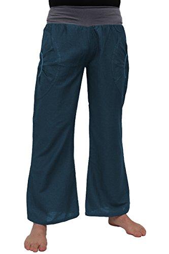 pantaloni-per-yoga-con-fascia-elastica-e-due-pratiche-tasche-100-cotone-azzurro-petrolio-l-xl