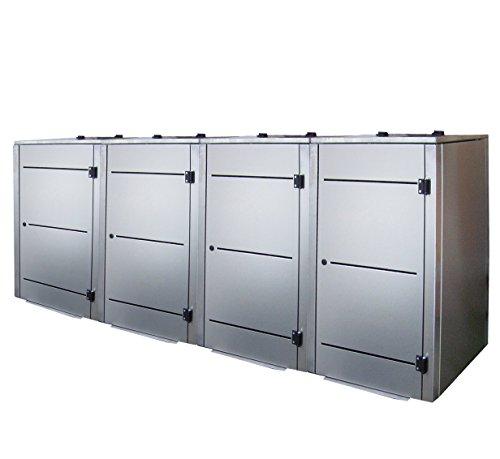 Müllbehälterbox, Müllbox-System, Mülltonnenbox, Eleganza