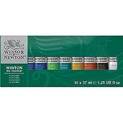 Winsor & Newton- Winton Set de 10 Tubos de 37 ml de óleo, (Colart 1490619)