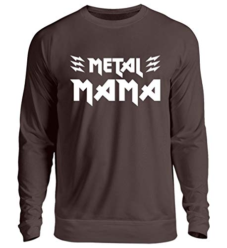 Metal Mama T-Shirt/Geschenk für Muttertag, Geburtstag, Weihnachten/Heavy Metal Fans - Unisex Pullover -XL-Schokolade -