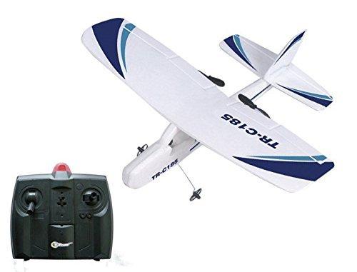 Top Race Cessna C185 Elektrische 2-Kanal-Infrarot-Fernbedienung RC-Hobby-Flugzeug mit 3 Rädern, Doppelpropeller und Nacht-Blitzlicht Leicht zu fliegen für Profis. TR-C185 (Flugzeug-räder 3)