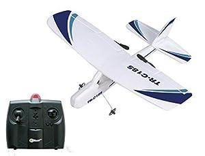 Top Race Cessna C185 Electric Control remoto por infrarrojos de 2 canales RC Hobby Avión con 3 ruedas, doble hélice y luz estroboscópica nocturna Fácil de volar para profesionales. TR-C185