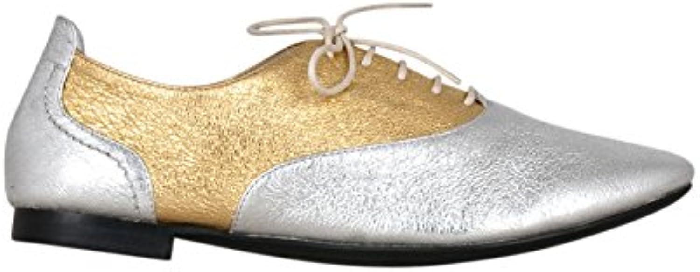 Kesslord Jets MT, Derbies Chaussures Derbies MT, & Richelieus Maria en Cuir de Vachette métalliséB073L49J9TParent edaeba