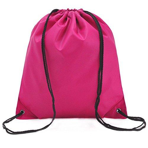 Imagen de demarkt  saco o de cuerdas impermeable del lazo del ocio  de viaje del bolso deportes bolsas rosa