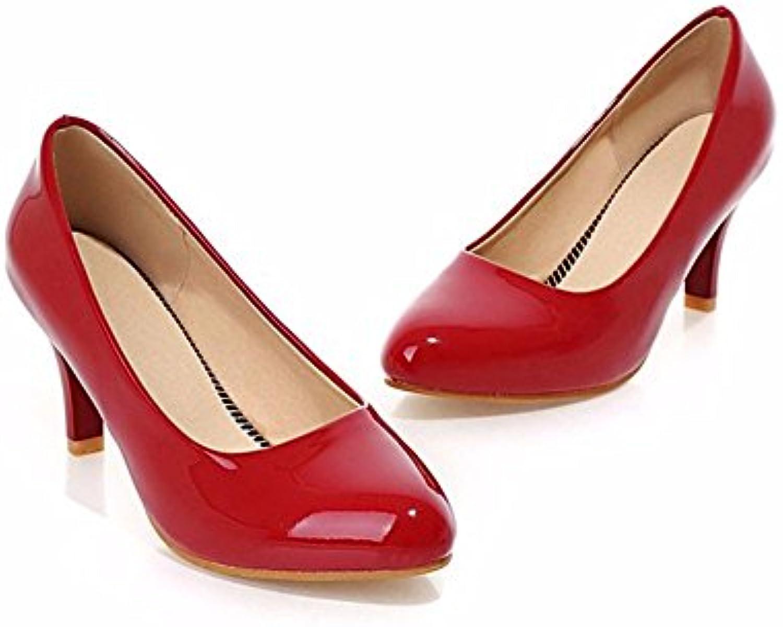 Espejo redondo pequeño los zapatos de tacón alto zapatos código color commuter todos-match femenino,zapatos de...