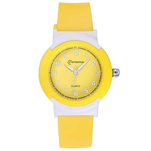 Relojes Analógicos para Niños y Niñas en color amarillo