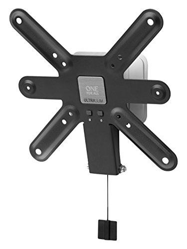 Ultra Slim TV-Wandhalterung von One For All NEIGBAR (15°)- Wandhalterung - TV-Bildschirmgröße 13-42 Zoll - Für alle TV-Gerätetypen - Schwarz Weiß - WM6221