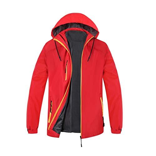 TWISFER Herren Outdoorjacke wasserdichte Skijacke Winddichte Regenjacke mit Fleece Warme 3 in 1 Ski-Jacken Winterjacke für Herren Funktionsjacke Allwetterjacke Freizeitjacke