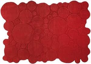 Esprit - Handtuft Circle - rot - 120 x 180 cm