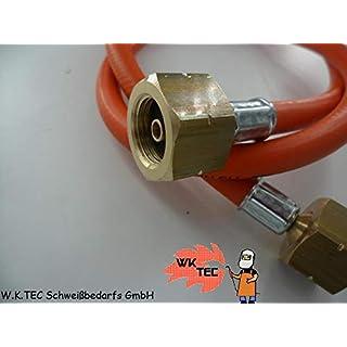 gepresst mit /Überwurfmutter 1//4 KKmoon Schutzgasschlauch 1,5 Meter Argonschlauch