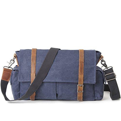 Mefly Gli Uomini Del Sacco Di Svago Crossbody Bag Sacca Casual Tendenza Kaki blue