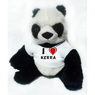Plush Panda with I Love Kerra (first name/surname/nickname)