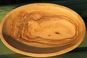 scodella ovale LIDO - in legno d'ulivo, ca. 12x7,5 cm. Con una venatura molto bella, impregnata con olio di lino pressato a freddo. Ogni scodella è un pezzo unico