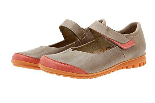 Chaussure femme confort en cuir Piesanto 8527 ville basse semelle amovible confortables amples Orange