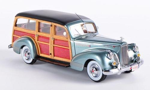 packard-110-deluxe-wagon-metallic-hellgrun-wood-optics-1941-model-car-ready-made-neo-143