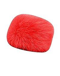 Mongolische Pelzimitat Mütze Damen Herren Russische Stil Dicke Skimütze Wintermütze Rot L